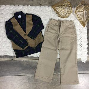 IZOD Shirt and Vest and Khaki pants